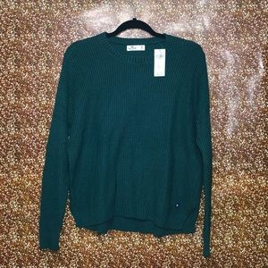 Hollister Green knitted sweater